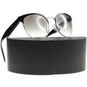 Prada black and light gold sunglasses